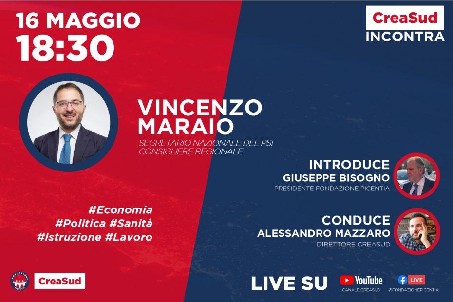 CreaSud Incontra - Enzo Maraio, con Alessandro Mazzaro e Giuseppe Bisogno, presidente Fondazione Picentia