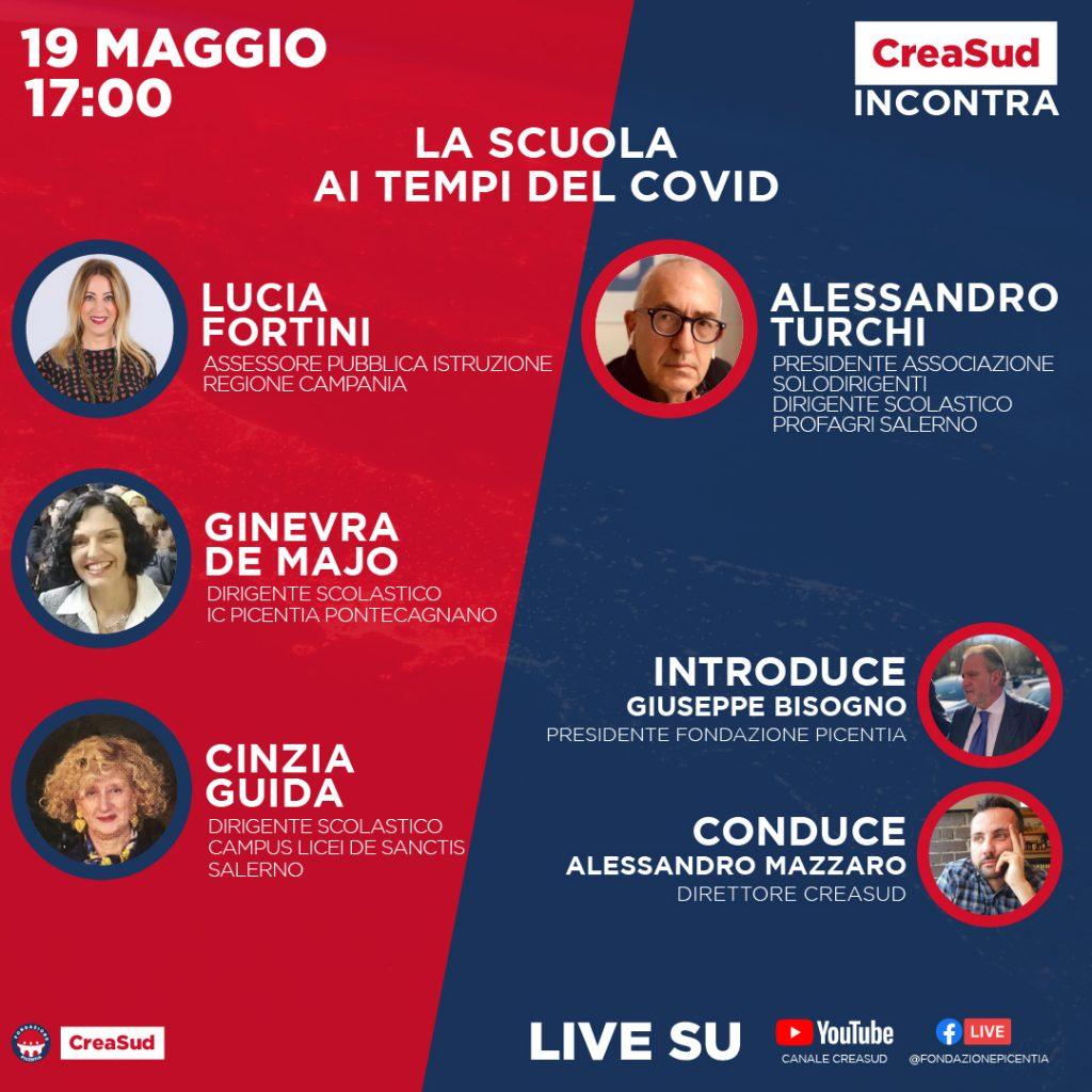 CreaSud Incontra - Lucia Fortini Regione Campania, con Alessandro Mazzaro e Giuseppe Bisogno, presidente Fondazione Picentia